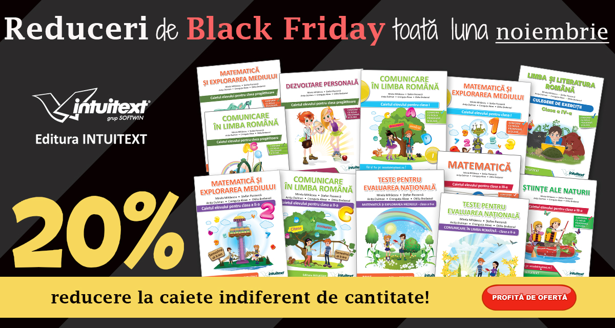 Caiete Intuitext Black Friday