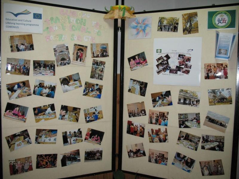 Comenius Wall ce contine elemente de diseminare a celor 2 proiecte Comenius ce s-au desfasurat in scoala noastra in anul scolar 2010-2011.