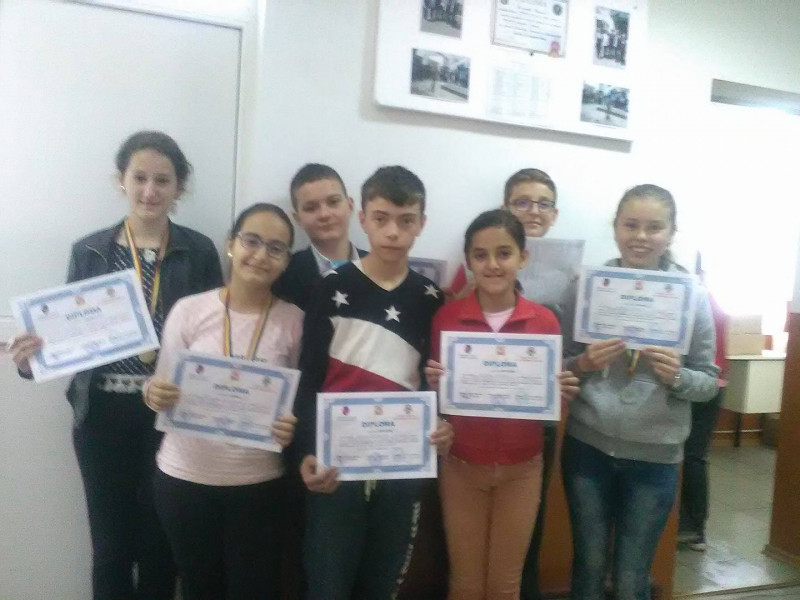 Elevii participanti Concurs Ion Cojocaru Mioveni