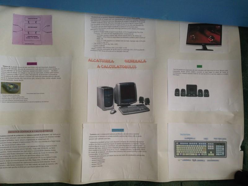Materiale realizate de elevi pentru ora de informatica