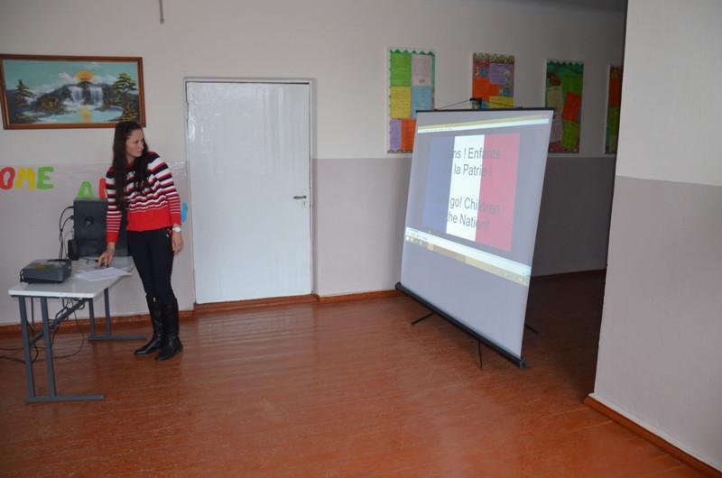 Concursul declamatorilor, poezia franceză. Organizator, prof. Cioinac Diana