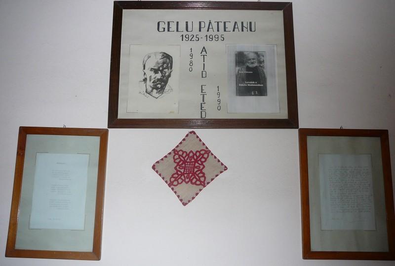 Scoala. - Gelu Pateanu- un profesor care a profesat aici. Egy tanár aki régen itt tanitott.