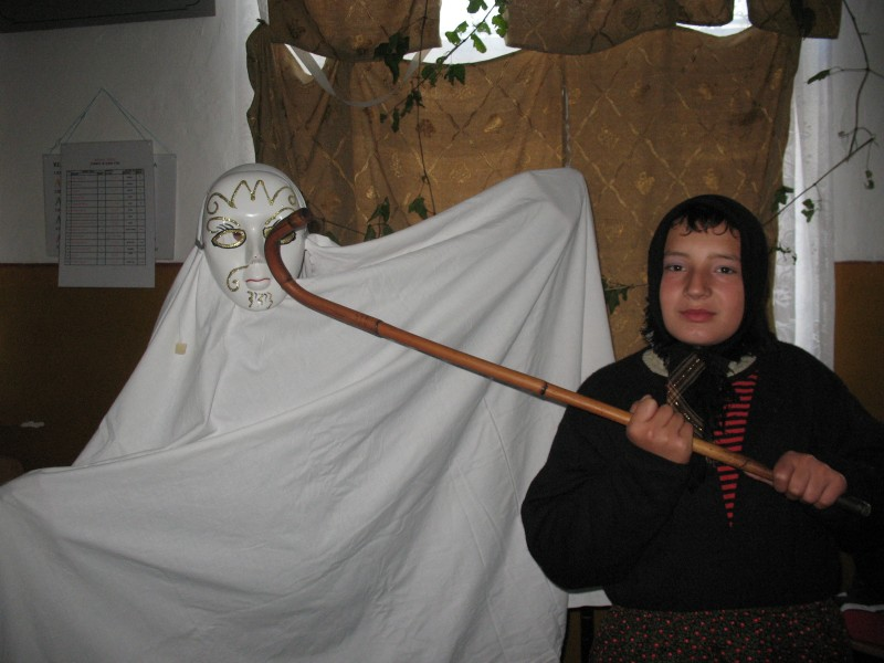 Sunt poze facute in scoala la concursul de masti si dovleci de Halloween