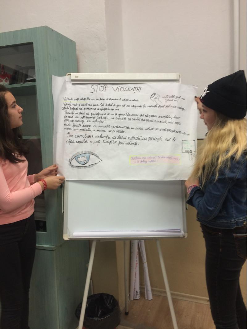 Conştientizarea elevilor cu privire la modalitãţile de prevenire a violenţei şi promovarea unui comportament nonviolent