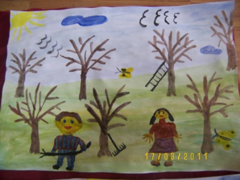lucrarile copiilor din clasa intai si a treia