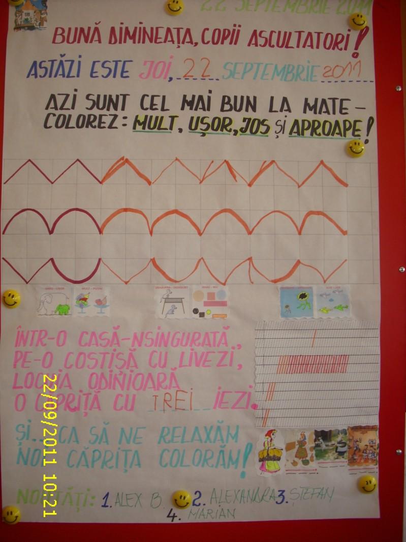 Clasa I D Step by Step An scolar 2011 - 2012