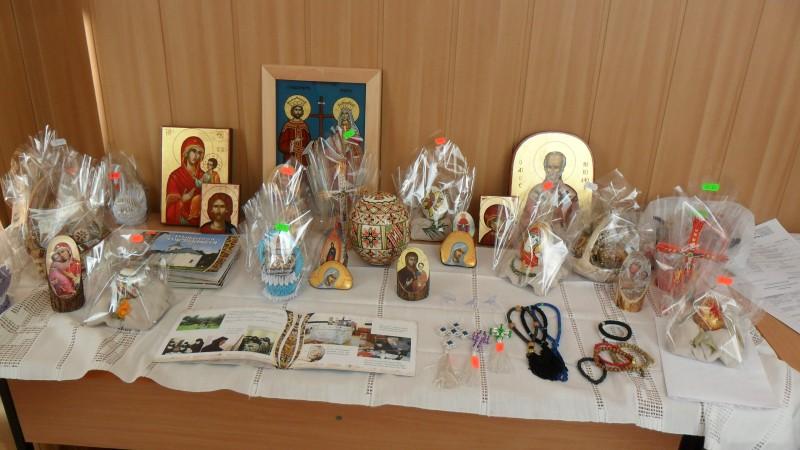 Stand de prezentare a Manastirii Miclauseni