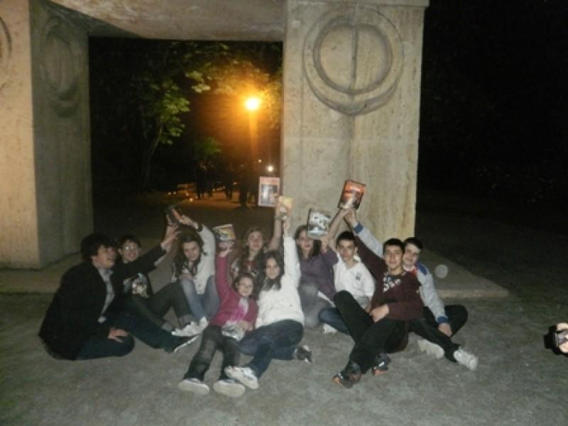 Participantii la proiect la Poarta Sarutului