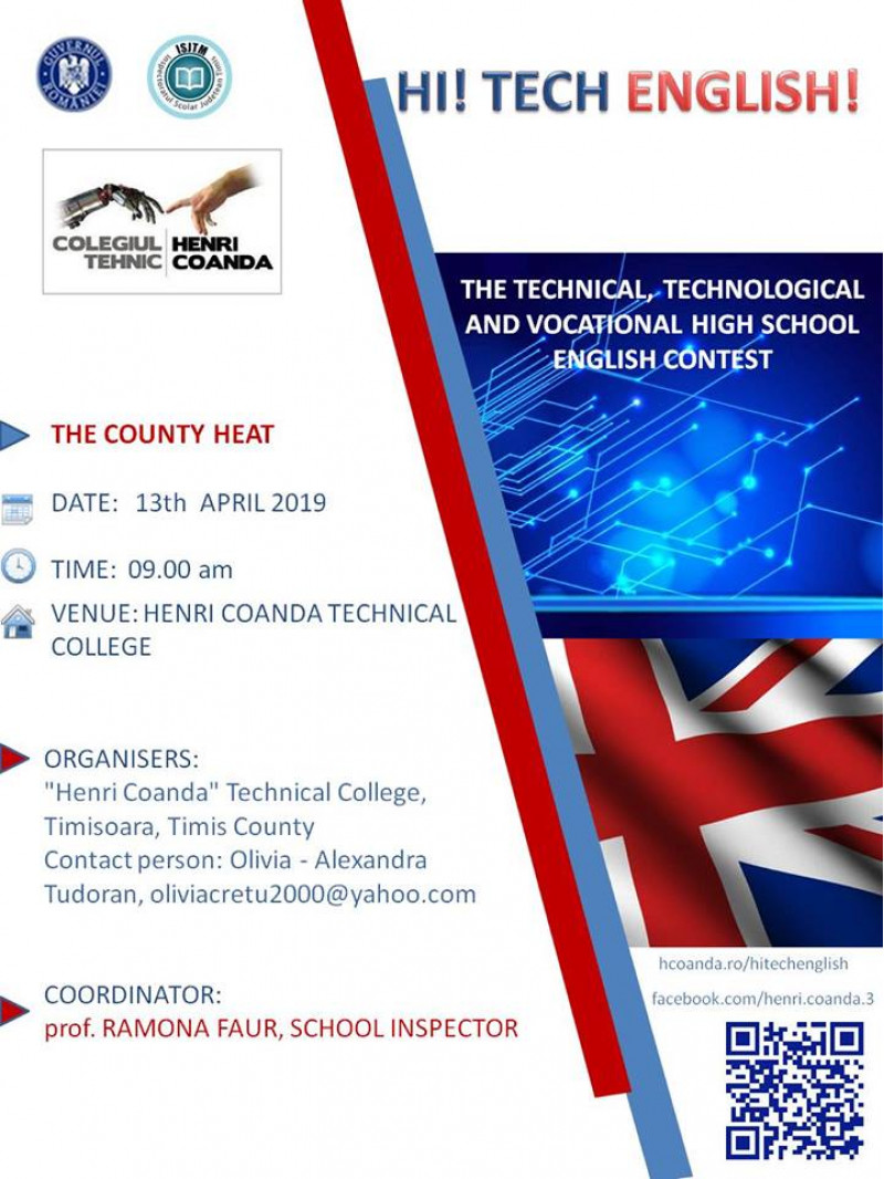 THE TEHNICAL, TECHNOLOGICAL AND VOCATIONAL HIGH SCHOOL ENGLISH CONTEST