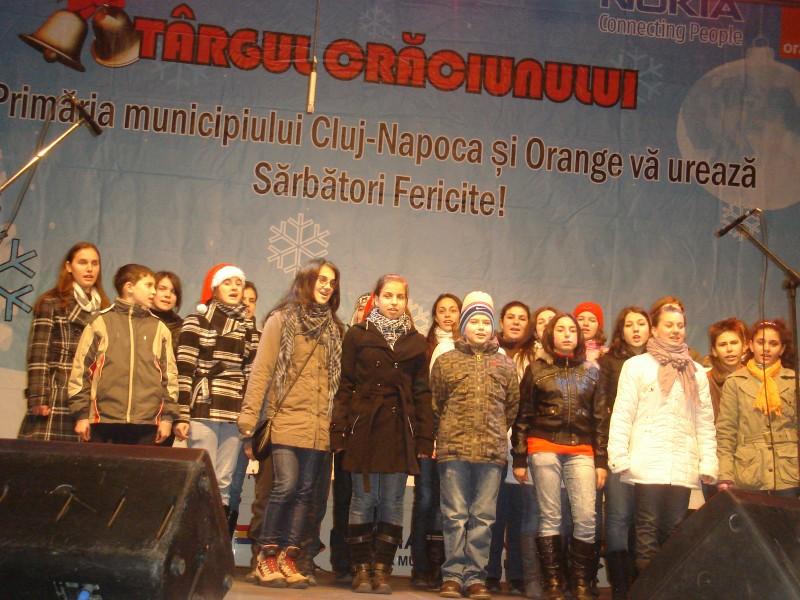 Colinde - eveniment cultural organizat de Primăria Municipiului Cluj-Napoca - în Piaţa Unirii