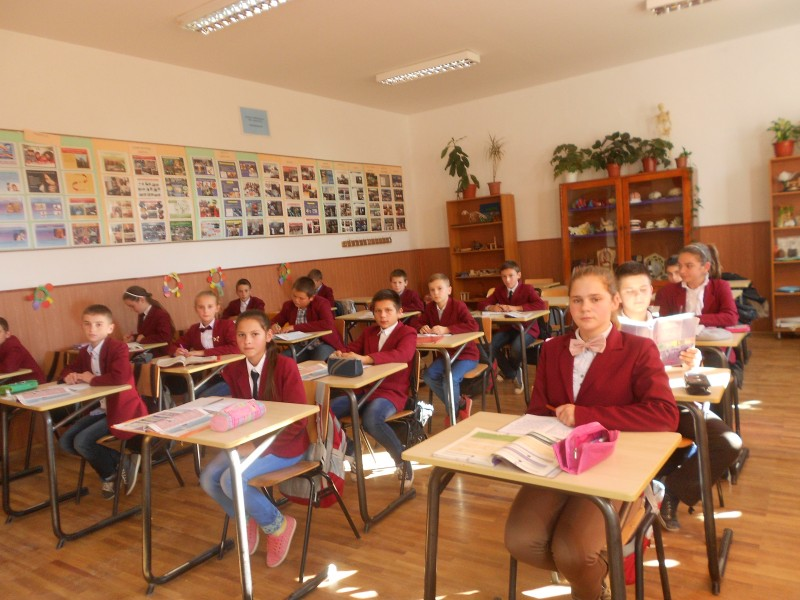 Imagine din timpul  unei ore de curs.