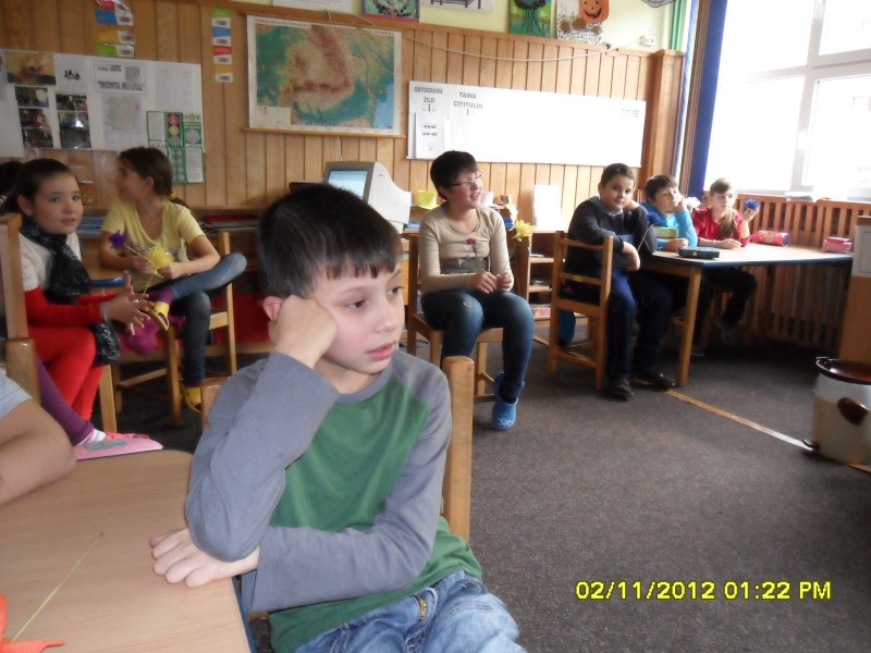activitate desfăsurată in parteneriat cu clasa a IV-a Step by Step