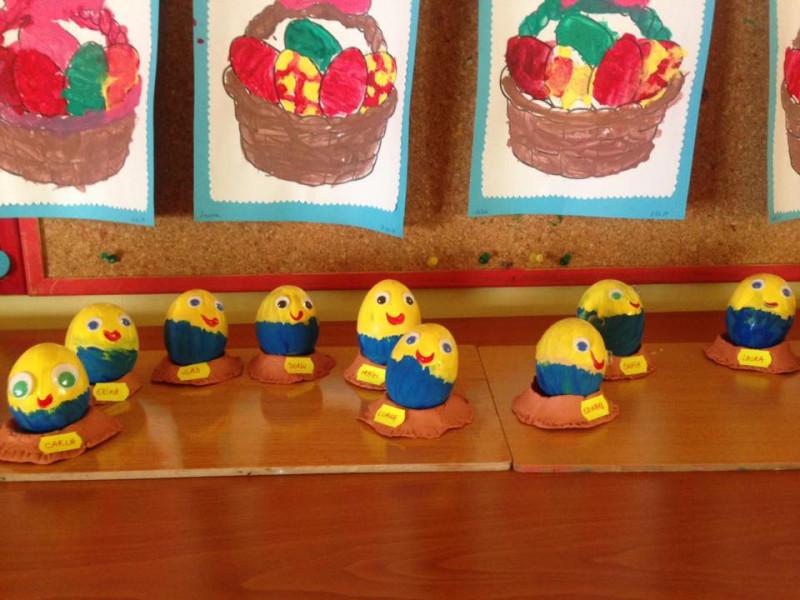 Ouă de Paști create de grupa Minionii