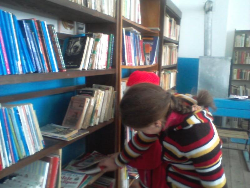 O biblioteca mica, dar calda, primitoare, locul unde se desfasoara cele mai multe dintre activitatile extracurriculare, datorita implicarii d-nei bibliotecare, Topan Nicoleta