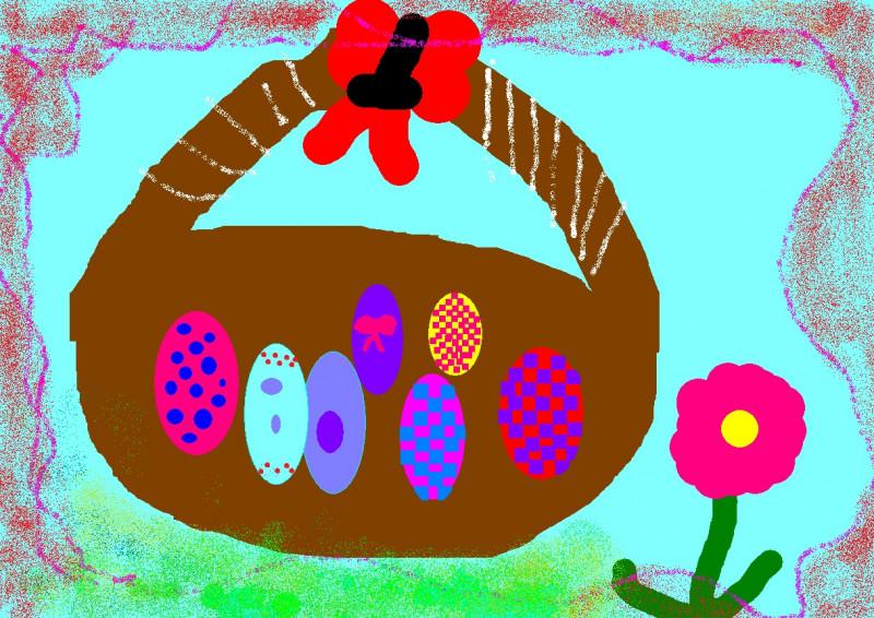 Desen realizat de elevii Școlii Gimnaziale Hîrtiești