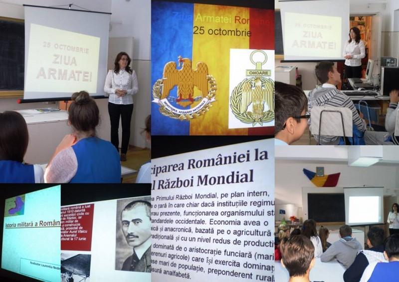 Activitate organizata cu prilejul zilei de 25 Octombrie - Ziua Armatei Romăne