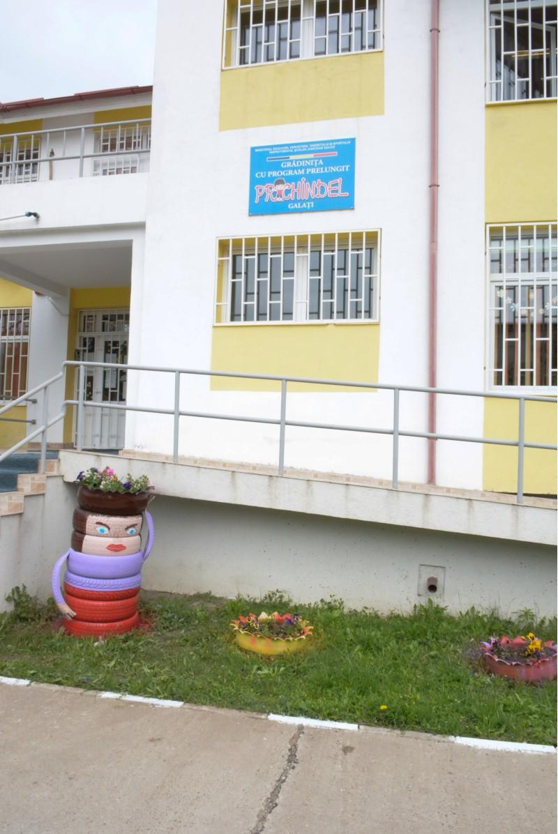 Este imaginea exterioara a Gradinitei Prichindel Galati