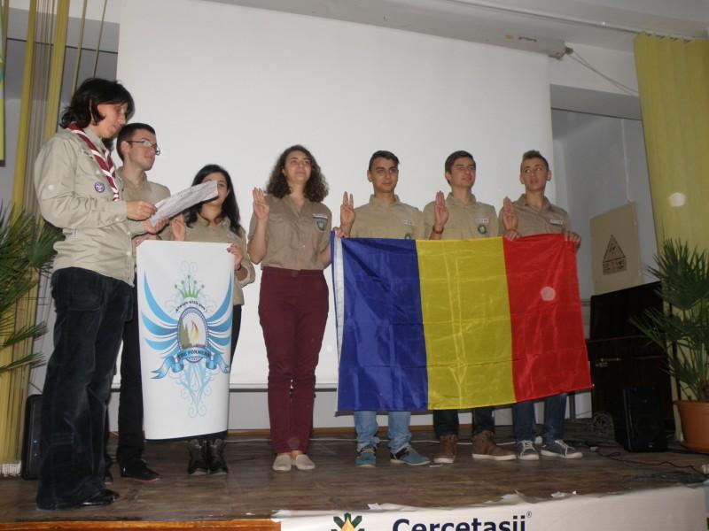 Poza de la lansarea centrului local Cercetasii Romaniei care a avut loc la ISJ PH