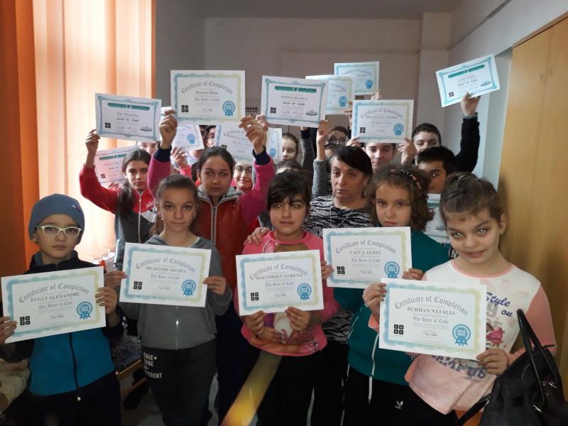 Activitate desfășurată la Școala Gimnazială Hârtiești în perioada 4-8 Decembrie 2017