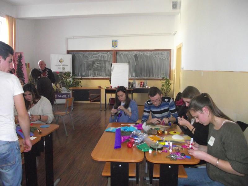 Activitati desfasurate in cadrul Centrului de Cercetasi in data de 13 decembrie 2013