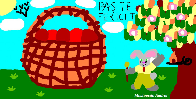 Desen realizat de elevul Mesteacan Andrei