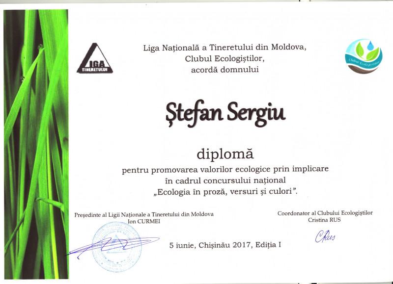 Diploma profesorului-coordonator