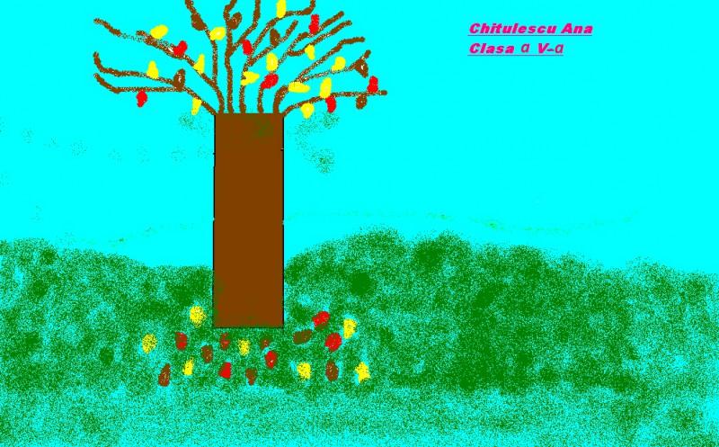 Desen realizat de elevii Școlii Hîrtiești